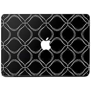 Wonderskins WSPro_15inch_0107 Macbook Pro 15inch Vinyl Skin with Apple Logo and Round Edges Cutout