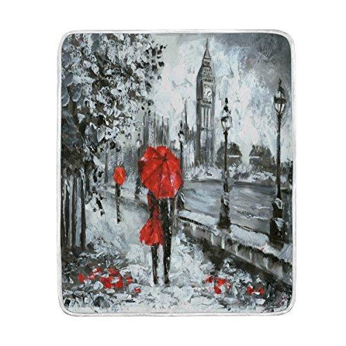 Use7 Home Decor Oil Paintig London Big Ben - Manta para el...