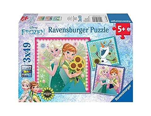Ravensburger 093564 - Puzzle enfant - L'hiver d'Elsa / Reine des Neiges - 3X49 Pièces