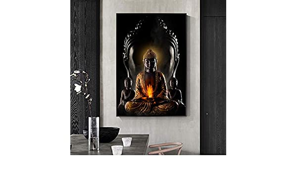 EIN 40X60 cm Kein Rahmen w15Y8 Buddha Wandkunst Gott Leinwand Moderne Buddha Statue Leinwand Kunst Malerei Wand Buddhistische Poster Wandmalerei Dekoration