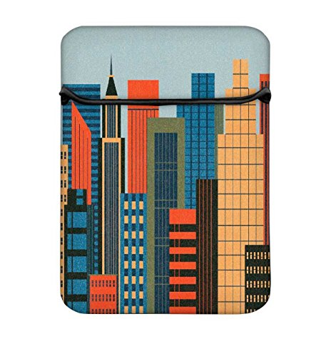 Mumbai Skyline 2788 14 bis 14,6 Schutz Neopren mit Tragetasche aus Tasche für MacBook Pro 15/Macbook Pro 15 Touch Bar & 35,6 cm Acer Dell HP Lenovo Chromebook