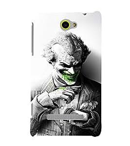 EPICCASE Joker Laugh BW Mobile Back Case Cover For HTC Windows Phone 8S (Designer Case)