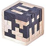 3D teaser de madera 54 T-Tetris bloques geométricos inteligentes rompecabezas rompecabezas rompecabezas juguetes educativos para niños y adultos