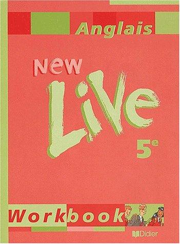 New live, cinquième 2001, cahier d'exercices