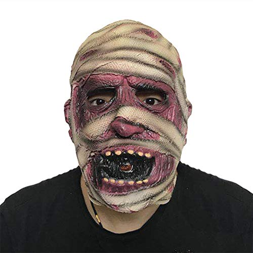 JIAAE Halloween Mumie Maske Horror Latex Zombie Teufel Kopfbedeckung Party Und Prom Prop
