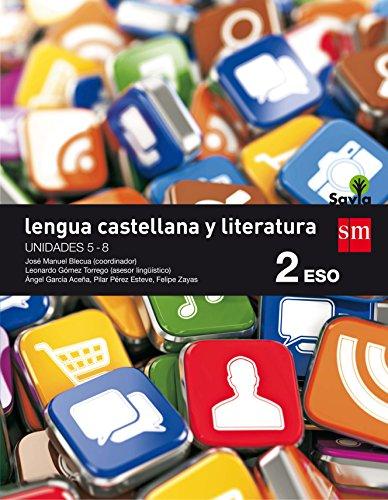 Lengua castellana y literatura. 2 ESO. Savia. Trimestres - Pack de 3 libros - 9788467586879