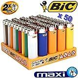 BIC J26 - BI- Bic - Set présentoir de 50 Briquets Maxi Bic J26 - 50 Grands briquets dans leur présentoir