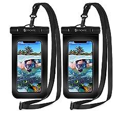 Syncwire Pochette Étanche Téléphone [Lot de 2] - Housse Étanche Smartphone Universelle [Certifiée IPX8] Touch Sensible pour écrans Jusqu'à 7 Pouces pour iPhone, Samsung, Huawei, Lecteurs MP4 / 3 etc