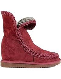 Para Bota Interior es Cuña Zapatos Mujer Pelo Amazon RHYwq