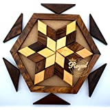Wooden Jigsaw Puzzle Plate Toys Game For Kids Wooden Toys For Family And Travel Royal Craft Enterprises (Star Puzzle)