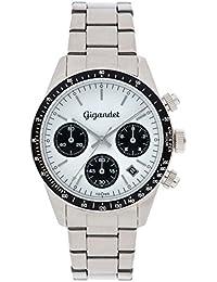 Gigandet Race King Herren Armbanduhr Chronograph Analog Quarz Weiß Silber G5-005