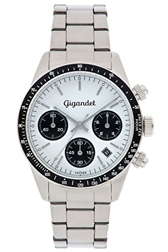 Gigandet Race King Men's Analogue Chronograph Quartz Watch White Silver G5-005
