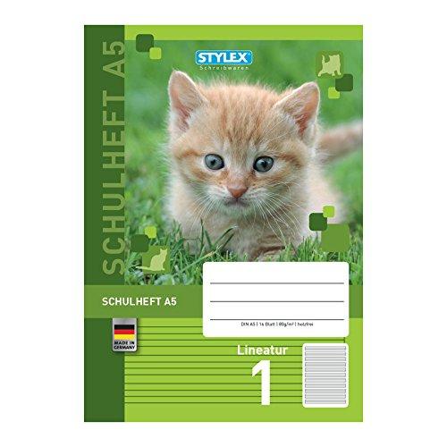 STYLEX-DIN-A5-Schulheft-mit-tollen-Tiermotiven-in-verschiedenen-Lineaturen