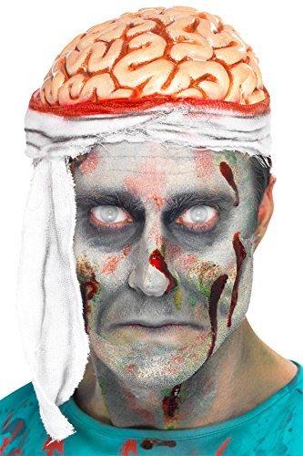 Halloween Bandage Gehirn Zombie Hut Zubehör (Zombie Gehirn Kopfbedeckung Erwachsene)