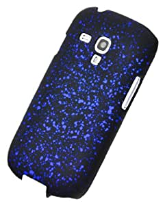 Circle Case Coque pour Samsung Galaxy S3 Mini I8190 Motif Espace Galaxie Univers Nebuleuse Hologramme Noir