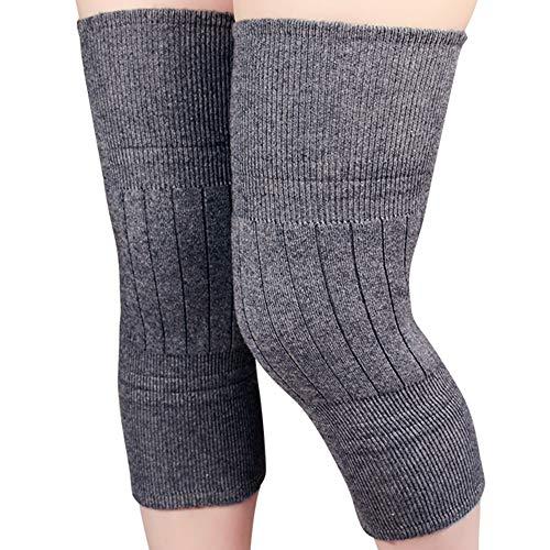 LiuJianQin Kniepolster ZXQZ Knieschützer Warm Protection Knieschoner Vier Jahreszeitengelenke Kälte- und Verdickungsschutzausrüstung (2er-Pack) Knieschoner (Farbe : Gray) -