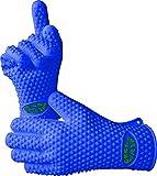 VRP resistente al calor de silicona barbacoa guantes-mejor protección térmica horno, parrilla, hornear, fumador o cocina guantes-reemplazar su manopla y guantes-Five Fingered impermeable Grip-4colores.
