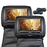 Eincar® NB49AM / SDV49AM Twin Screens 9-Zoll-beweglicher Auto-DVD-Player mit Fernbedienung HD LCD Kopfstütze Video-Monitor-System Unterstützung FM Transmitter (schwarz)
