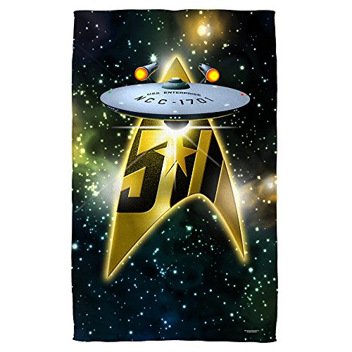 Star Trek Starship 50th Anniversary Strandtuch, 76,2 x 152,4 cm
