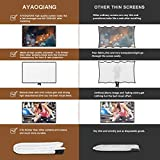 Projector Screen 120 Inch,Portable Projection Screen 16:9 HD 4K Foldable for Home Theater Cinema Indoor Outdoor Front and Rear Projection