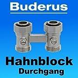 Buderus Heizkörper Hahnblock W Durchgangsführung