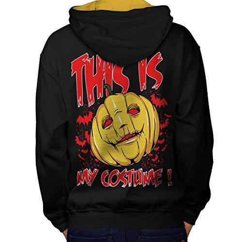 Halloween Kostüm Horror Men XL Kontrast Kapuzenpullover Zurück | Wellcoda
