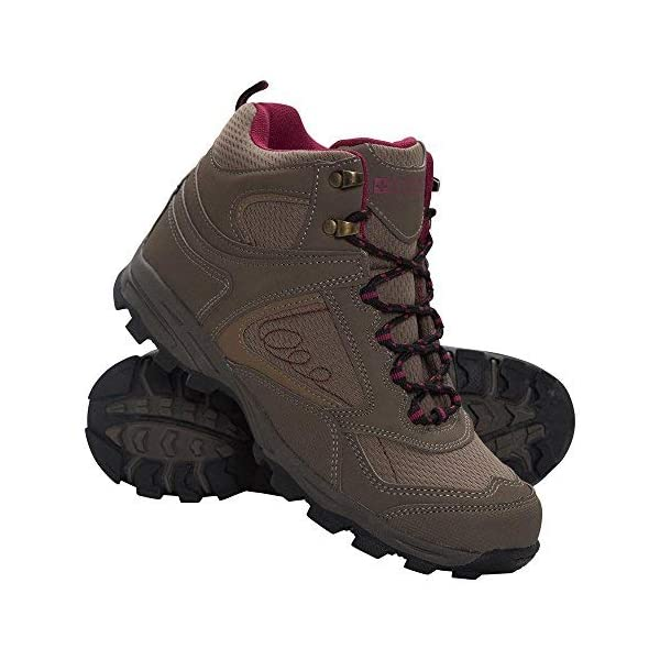 Mountain Warehouse McLeod Womens Comfortable Boots - Breathable Ankle Boots, Durable Hiking Boots, Padded & Lightweight Walking Shoes - Ideal for Trekking & Travelling 1