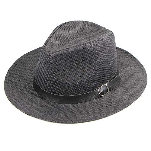CANDLLY Hut Damen, Mode Damen Frühling und Sommer Strohhut Frauen Damen Frühling und Sommer Männer Gürtelschnalle Hut Kopfschmuck Zubehör
