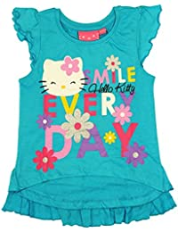 Hello Kitty Official Girls T-Shirt Short Sleeve Age 2/9 Years
