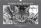 Katzen Pop Art in s/w - Kleine Tiger unter uns (Wandkalender 2017 DIN A4 quer): Unsere Lieblinge einmal in einer
