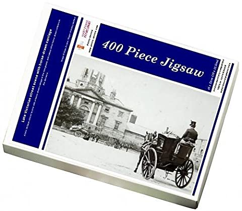 Photo Jigsaw Puzzle of Late Victorian street scene with horse-drawn carriage