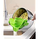 [Sponsored]Kitchen Strainer - Snap & Strain, Clip On Food Grade Silicon Strainer, Fits All Pans And Bowls