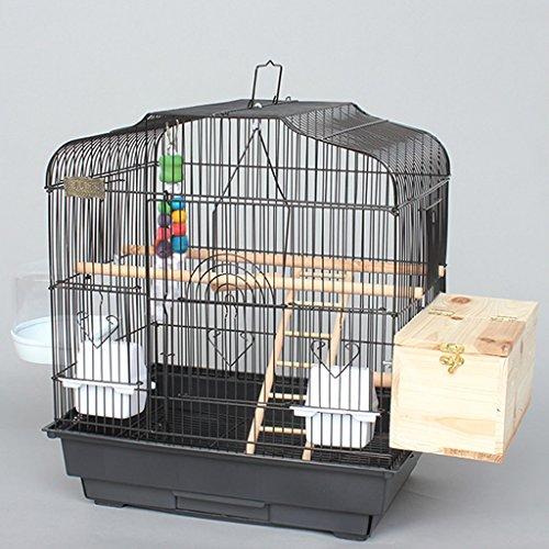 Liuyu · Lebenshaus Papagei Vogelkäfig Große Reproduktion Große Metall Schwarz