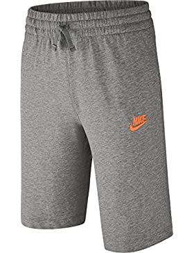 Nike B Nsw Jsy Aa Pantaloncino, Bambino, Dk Grey Heather/Dark Steel Grey/Bianco, XL
