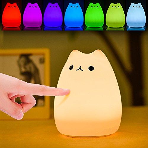 ¿Por qué necesitarías una luz de noche de niños Haofy?  Tap Control para 6 + 1 colores: Una vez que abra la lámpara de noche de silicona presionando el botón ON / OFF en la parte posterior de la lámpara, se fijará en el modo de blanco cálido. Con Sen...