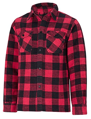hundeinfo24.de Herren Outdoor Holzfällerhemd Canadian Woodcutter – verschiedene Farben verfügbar Rot M