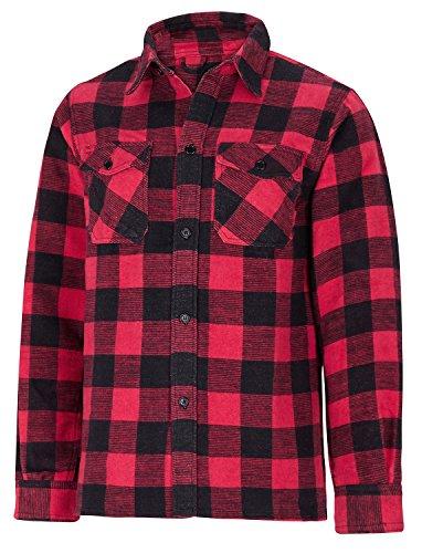 Giacca da esterno in legno canadese cutter lumberjack camicia, disponibile in diversi colori, red, xxl