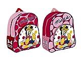 Disney Minnie Mouse Mochila para niñas,Medidas:29x26.5x9cm.una unidad, color se envia al azar