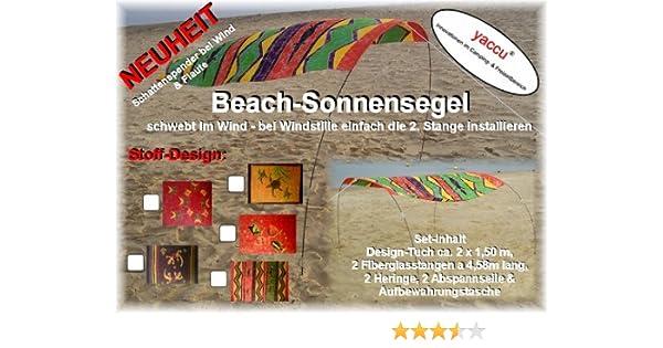2,00 x 1,50 m TUCHMA/ß Design Fische ca YACCU BEACH-SONNENSEGEL