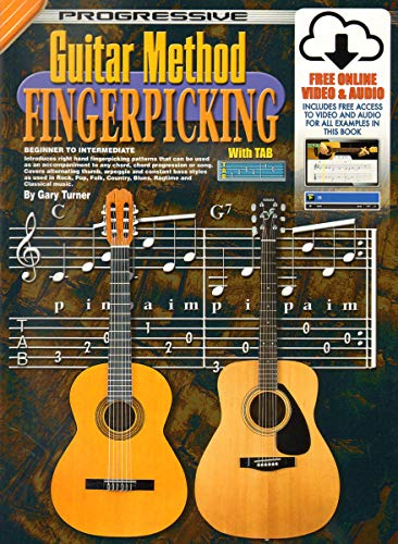 Guitar Method Fingerpicking (Progressive Guitar Method) (Method Progressive Guitar)