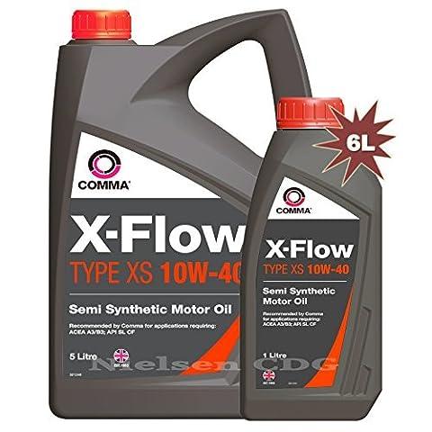 Comma XFXS5L X-FLOW TYPE XS 10W-40 Motor Oil 5L + 1L = 6L