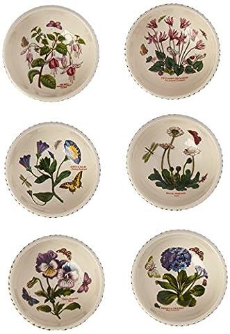 Portmeirion Botanic Garden Individual Fruit Salad Bowls, Set of 6 Assorted Motifs by Portmeirion