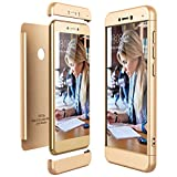 CE-Link für Huawei P8 Lite 2017 Hülle Hardcase 3 in 1 Handyhülle Ultra Dünn 360 Grad Full Body Schutz Schutzhülle Elegant Stoßfest Bumper - Gold