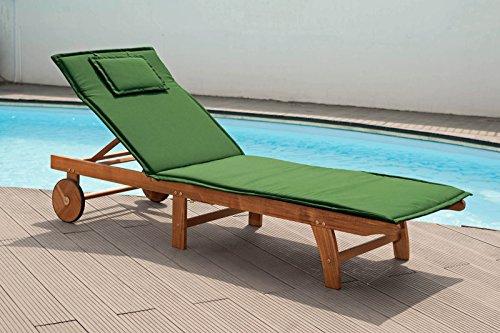 Cuscino per lettino in verde copripiumino con cerniera-lavabile (senza liege)