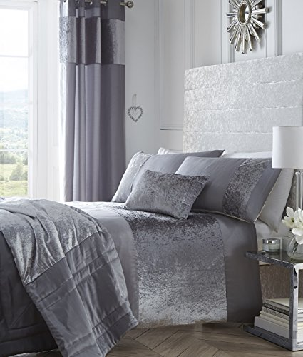 boulevard-crushed-velvet-silver-grey-quilt-duvet-cover-bedding-set-king