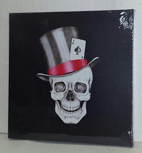 Cuadro en lienzo de calavera del Rock and Roll con sombrero de...
