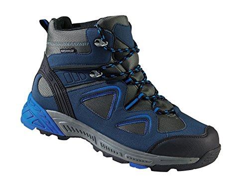 Herren Trekkingschuhe Wanderschuhe Atmungsaktiv, wasserdicht und windabweisend durch eingearbeitete TEX-Membran Blau-Grau