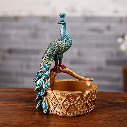 JHart Pfau aschenbecher, pfau Statue, tierfigur, kreative aschenbecher, Geschenk, die perfekte Dekoration der Wohnzimmer Schlafzimmer empfangsraum,Blue (Blues Brothers Figuren)