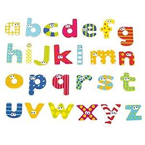 BOIKIDO BKD80834094 – Lettere Minuscole Magnetiche, in Legno, 59 Pezzi