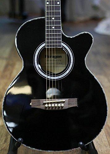 Paragon - Guitarra Electroacústica J002CE,negro